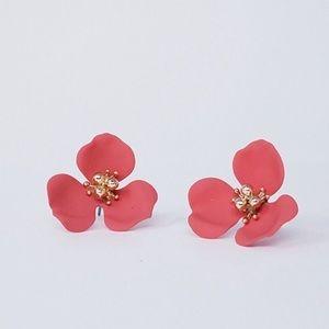 🆕Poppy Flower Earrings Living Coral